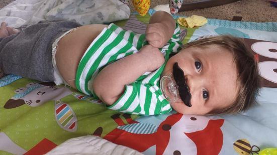ecsher mustache baby